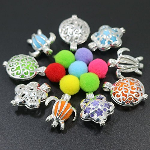 9pcs Mixed Shape Cage Locket ,Essential Oil Diffuser Locket,Bracelet Charms,Necklace Charms(Style 4)