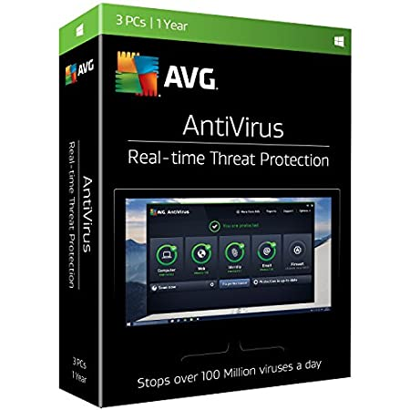 AVG Antivirus 2017, 3 PCs, 1 Year