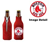 Boston Red Sox MLB Team Logo Drink Beer Beverage Bottle Insulated Picnic Outdoor Party Beach BBQ Kooler Bottle Cooler - 12oz Glitter Bottle