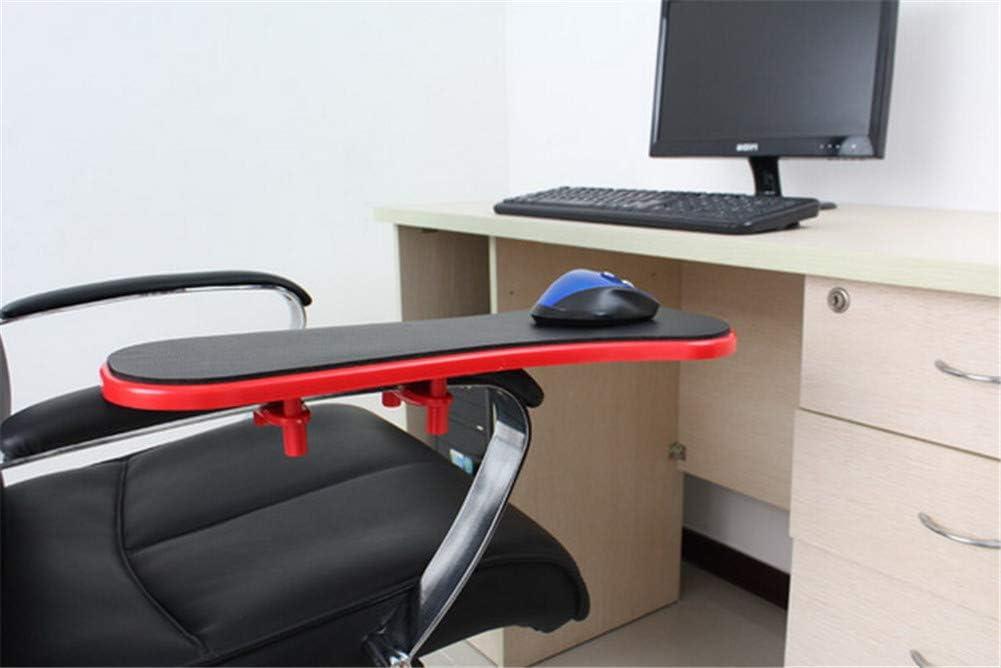 Ergonomic Armrest Mouse Pad Holder Adjustable Computer Desk Extender Arm Wrist Rest Support for Table and Chair Black