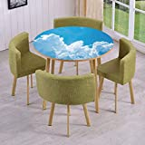 iPrint Round Table/Wall/Floor Decal Strikers,Removable,Crystal Clouds in The Sky Heavenly Life Hope Symbol Surface of Planetary Body Image,for Living Room,Kitchens,Office Decoration