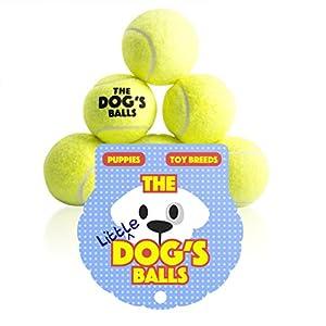 Der kleine Hundeball, 6 Pack extra starke kleine Hunde Tennisbälle, Spielzeug...