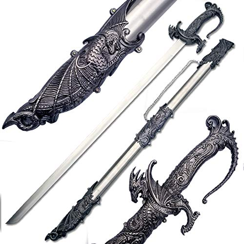 (Ace Martial Arts Supply Saint George Dragon Saber Fantasy Medieval Knight Sword, 36-Inch/Large)