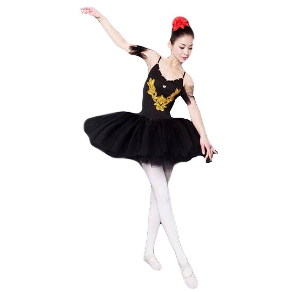 xl-adultブラックバレエドレス/スリングバレエスカート/Swan Lakeコスチューム B01CNTO9FC