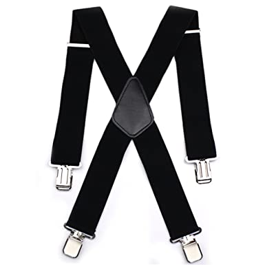 a buon mercato bellezza brillante nella lucentezza Sinbury® Bretelles de pantalon de moto pour homme réglables élastiquées  Forme en X – Fermetures robustes en métal