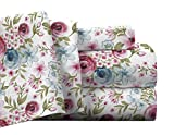 Pointehaven Flannel Deep Pocket Set with Oversized Flat Sheet, Twin X-Long, Sylvan