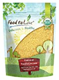 Organic Whole Wheat Couscous by Food to Live (Non-GMO, Kosher, Bulk) (3 Pounds)