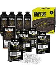 RAPTOR UP5054 White Urethane Spray-On Truck Bed Liner 1US Gallon + 4 Colors Bundle