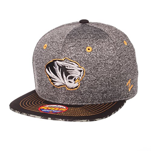 Zephyr NCAA Missouri Tigers Children Boys Prodigy Youth Snapback Hat, Youth Adjustable, Gray/Team Color
