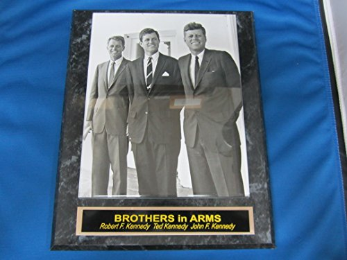 Kennedy Brothers John Ted Robert Collector Plaque w/8x10 VINTAGE Photo - John Kennedy Baseball