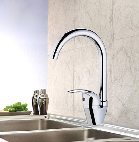 LHbox Tap Sprayer Spout Kitchen Faucet Copper Wing Single Handle Kitchen Faucet Sink hot and Cold-Water Dish Basin Mixer