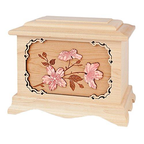 Wood Cremation Urn - Maple Cherry Blossoms Ambassador