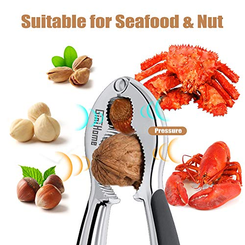 Seafood Cracker,GiniHome Heavy Duty Nut Crackers Walnut Opener Tools,Tool for Hazelnuts/Pecans/Peanuts/Pistachio/Lobster/Crab by GiniHome (Image #1)