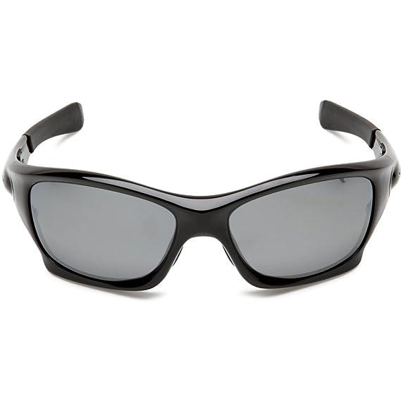 4e811985d82a7 Amazon.com  Oakley OO9127-06 Polished Black Pit Bull Wrap Sunglasses  Polarised Fishing