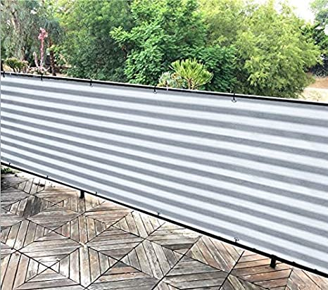 Alion Home Elegant Privacy Screen for Backyard Fence, Pool, Deck, Patio,  Balcony, Outdoor Paneling and Outdoor Screening- Include Zip Ties