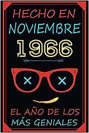 Hecho En Noviembre 1966 El Año De Los Más Geniales: feliz cumpleaños   Regalos Originales 1966   los mejores regalos de cumpleaños para mujer - hombre ... - hermanas - hermano - padres   cuaderno