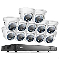 ANNKE 16CH 1080P HD-TVI H.264 Realtime DVR Security Camera System 2TB HDD included With (12)HD 1080P CCTV Dome Cameras,Weatherproof IP66,Night Vision, Remote Access and More