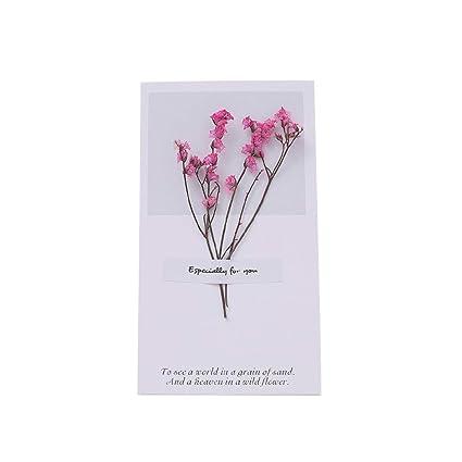 Qifumaer - 10 tarjetas de felicitación con diseño de flores ...