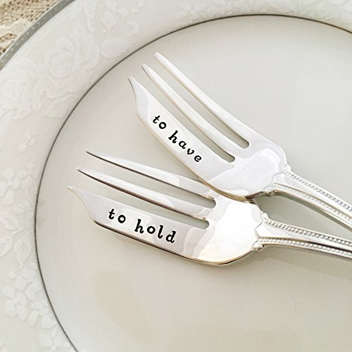 Silverplate Heart Box (to have & to hold :hand stamped forks, vintage by Lorelei Vella, pastry)