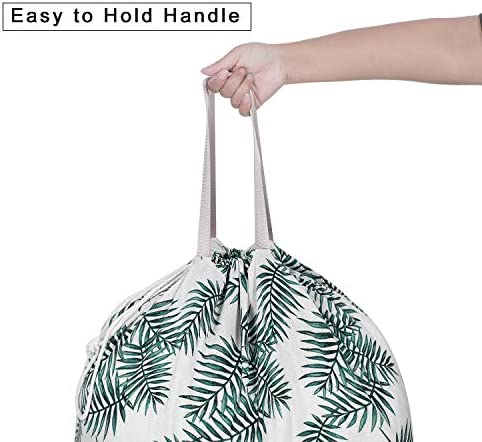 SANFERGE Extra Large Laundry Bag with Drawstring and Handle, Heavy Duty Travel Dirty Clothes Bag for Laundromat and Household, Durable Rip-Stop Laundry Hamper Liner, 14 Patterns(28 x 40 Inch)