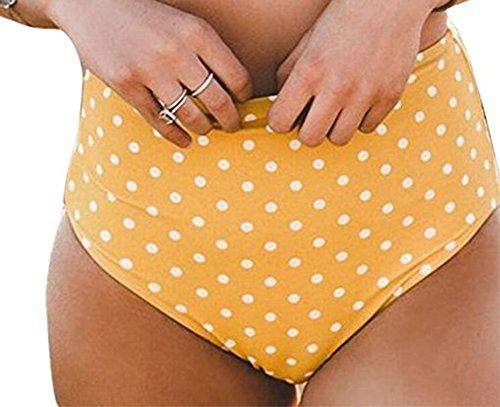 Fully Lined Halter Bikini (Women's Stripe Halter Bikini Set Swimwear Bathing Suit High Waisted Swimsuit (L/US12-14, BOTTOM))