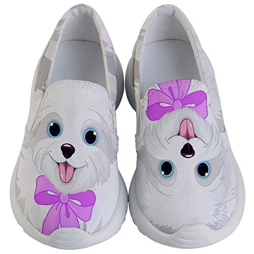 (PattyCandy Unisex Kids Lightweight Maltese Puppy Face Slip On - US 3Y )