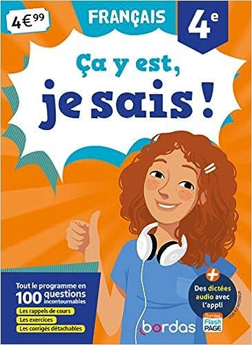 Amazon Fr Ca Y Est Je Sais Francais 4e Francoise