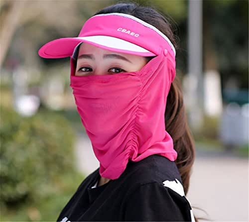 Yeying123 Hat Female Outdoor Running Sports Cap Male Cover Face Sun Hat Empty Top Cap Cycling Sun Hat Couple Tennis Cap,Rose
