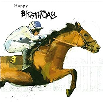 Horse Racing Birthday Greeting Card Just Josh Range Cards For Him