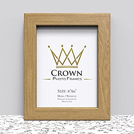 Crown Oak Photo Frame for 8x6 Inches (20.3 x 15.2 cm) Picture Photo ...