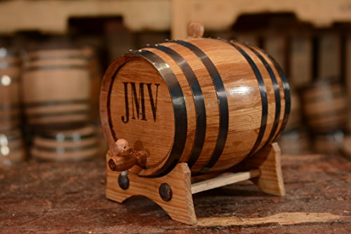 (1 Liter) Personalized American Oak Barrel | Custom Whiskey Barrel | Engraved Wine BarrelAge your own Tequila, Whiskey, Rum, Bourbon, - Barrel Rum