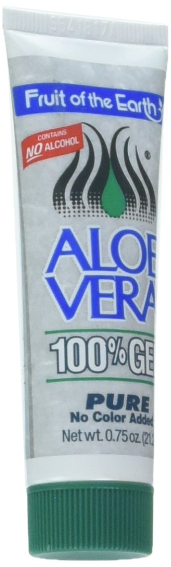 Fruit of the Earth Aloe Vera Gel - 0.75oz Tube (1 Case - 36 Units) by Fruit of the Earth