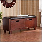 Comfortable Leather Two Drawer Storage Bench