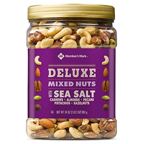 Member's Mark Deluxe Mixed Nuts with Sea Salt, 34 Ounce