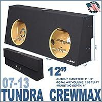 07-13 Toyota Tundra Crewmax 12 Dual Sub Box Subwoofer Enclosure