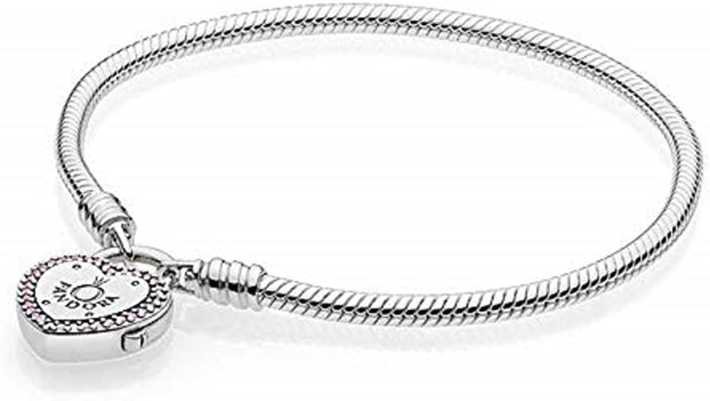 pandora bracciale con charm donna argento - 596586fpc-18