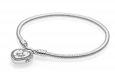 70abfc42d7f4 Pandora Pulsera charm Mujer plata - 596586fpc-18  Amazon.es  Joyería