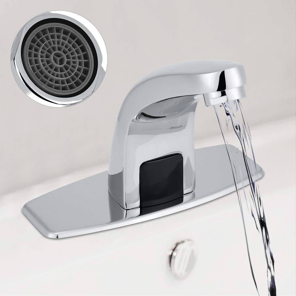 Details about  /Hands Free Infrared Water Basin Faucet Automatic Sink Sensor Tap Home Kitchen US