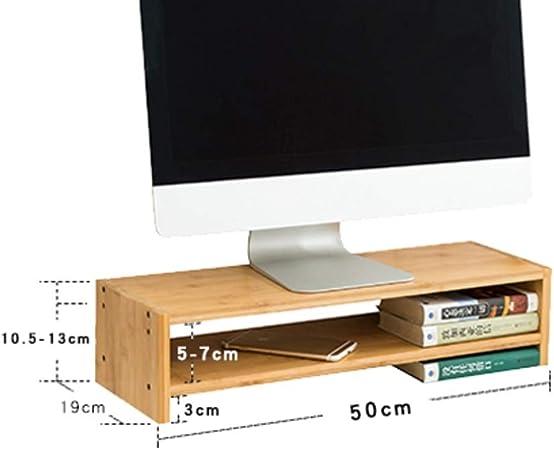 GCX&LV Multifunción Organizador Monitor Canalización Vertical,Oficina TV pc Laptop Soporte Monitor Madera Canalización Vertical con cajón Escritorio Madera Soporte Pantalla para el hogar-B: Amazon.es: Hogar