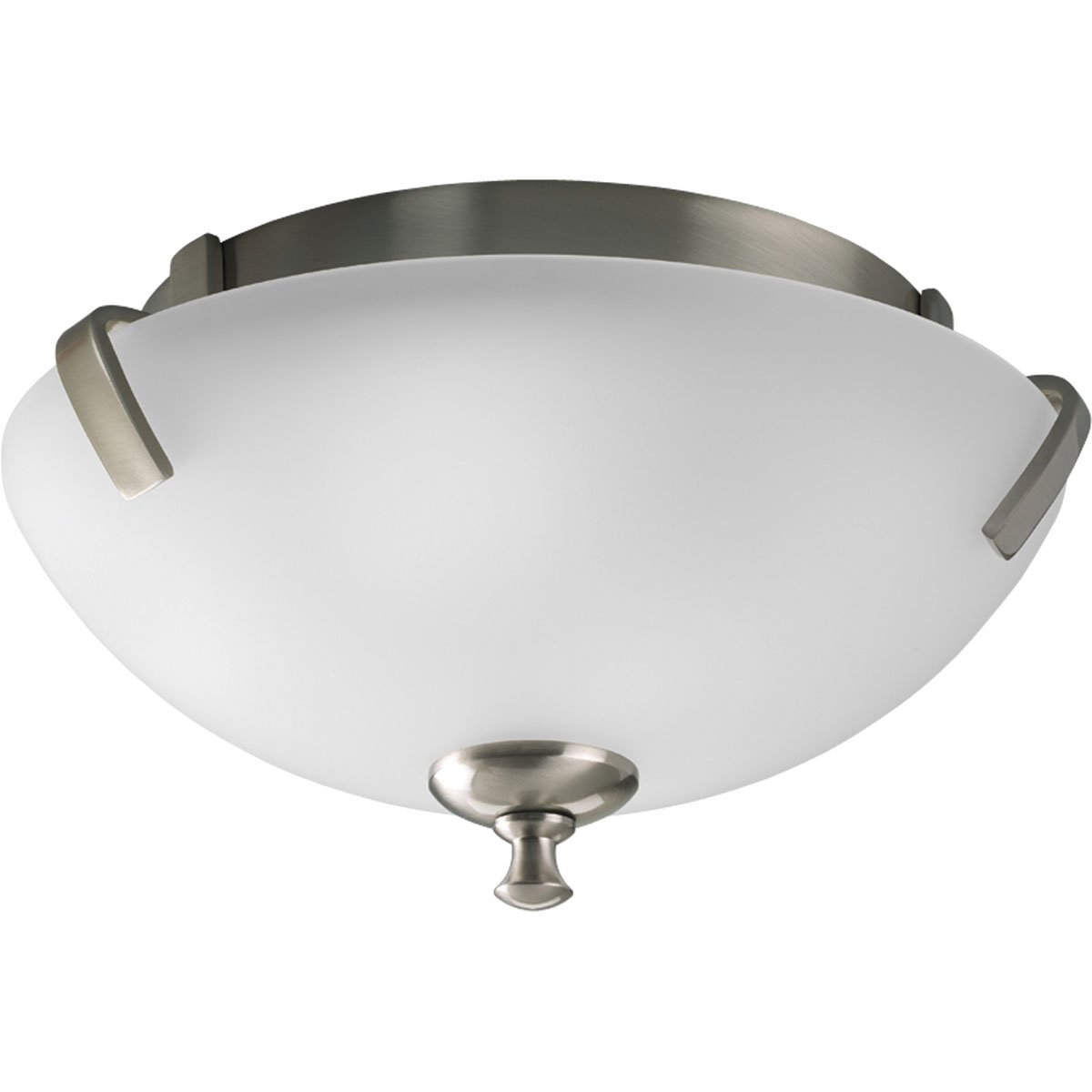 Com Progress Lighting P3290 09 2 Light Close To Ceiling Fixture Brushed Nickel Home Improvement