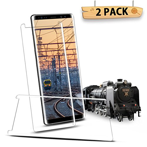 Aexagon Screen Protector for Galaxy Note 8, 2-Pack Full Coverage Premium Tempered Glass [Scratch Resistan] [HD Clear] [3D] [Anti-Bubble] Screen Film for Galaxy Note 8