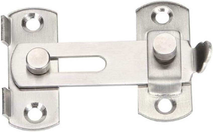 QIAO Stainless Steel barn Sliding Door Lock, flip Door Lock, Cabinet and Furniture Window Lock Screen Window Door Hardware, Brushed Surface Treatment