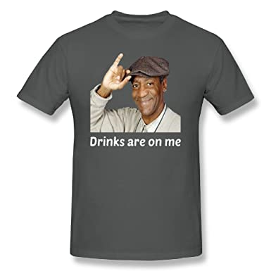 a0ab5f46b6 Image Unavailable. Image not available for. Color: Trendy Tees Bill Cosby  Drinks are On Me Funny T Shirt by Novelty Party Gift Unisex