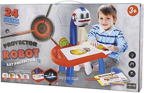 COLEPROFE Escritorio con Proyector Robot 24 Láminas 12x31x19cm ...
