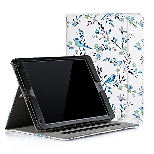 [해외]Ruban 케이스 아이 패드 9.7 인치 20182017아이 패드에 어 2아이 패드에 어 [코너 보호] 멀티 앵글 보기 폴리오 스탠드 커버 w포켓 자동 웨이크슬립 블루로 빈스 / Ruban Case for iPad 9.7 inch 20182017  iPad Air 2  iPad Air - [Corner Protecti...