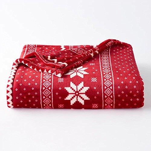 Soft oversized Microplush Blanket, Fairisle (Christmas Blankets)