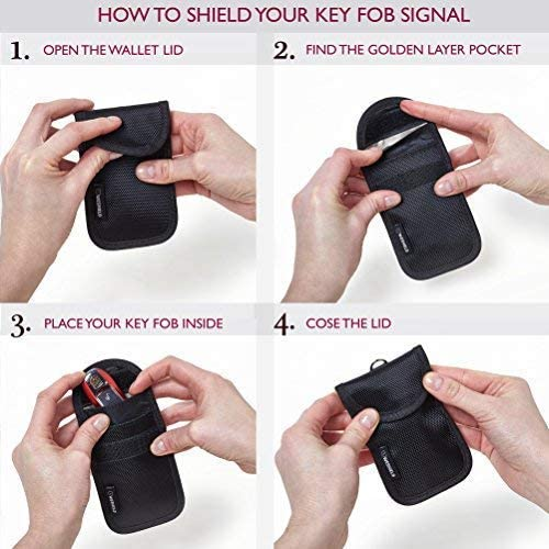 Weshield 2 X Rfid Signal Blocker Tasche Autoschlüssel Mit 4 Faraday Schichten Premium Keyless Entry Bag Go Advanced Faraday Schlüsselanhänger Shield Auto