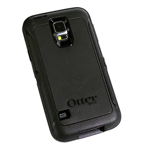 CUSTOM Black OtterBox Defender Series Case for Samsung Galaxy S5 -