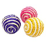 Da.Wa Pet Chewing Toys Cat Kitten Sisal Rope Weave Ball Teaser Chewing Rattle Catch Toy