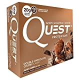 quest bar chocolate - Quest Nutrition Protein Bar, Double Chocolate Chunk, 4 Count
